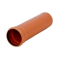 Kanalizačná rúra 125x3,1x1000 PVC