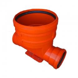 Kanalizačné šachtové dno 300/2x200 PVC