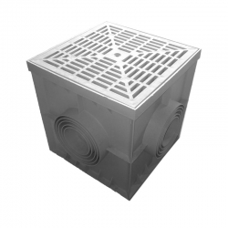 Kanalizačná revízna šachtička 200x200x200 mm plastová - set