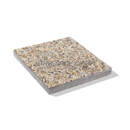 Deka z vymývaného betónu s fazou 40/40/4 cm | Premac