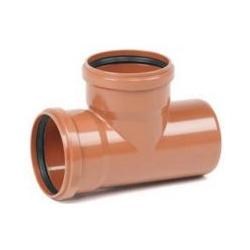 Kanalizačná odbočka 125/125/87° PVC T-kus