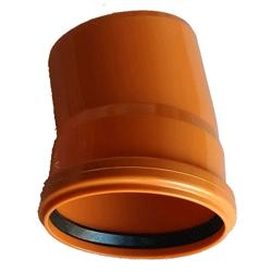 Kanalizačné koleno 125/15° PVC