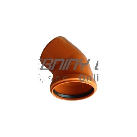 Kanalizačné koleno 125/45° PVC
