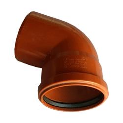 Kanalizačné koleno 125/67° PVC