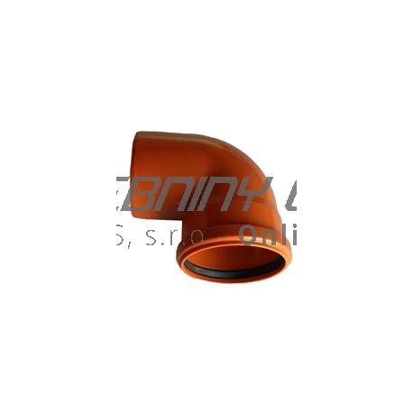 Kanalizačné koleno 125/87° PVC