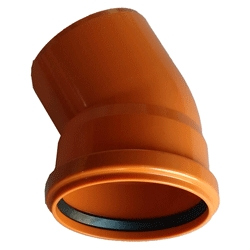 Kanalizačné koleno 160/30° PVC