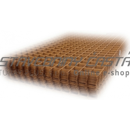 Kari sieť KH 30 - hr. drôtu 6mm, oko 100x100mm, 2x3 m
