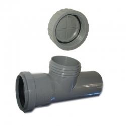 Kanalizačná čistiaca tvarovka 75 HT odpad