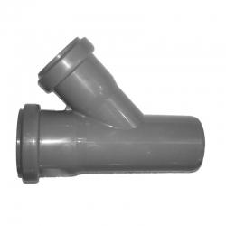 Kanalizačná odbočka 50/50/45° HT PP odpad