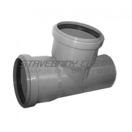 Kanalizačná odbočka 75/75/87° HT PP odpad