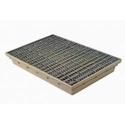 Kanalizačná rohožka štandard 600x400x80mm s roštom - set