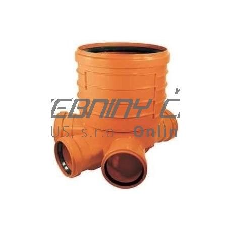 Kanalizačné šachtové dno 300/4x160 PVC