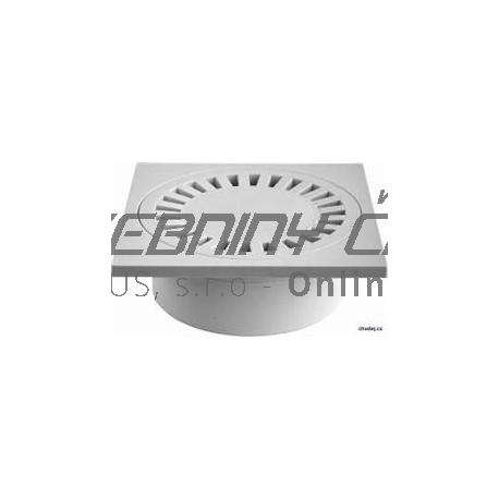 Podlahová vpusť spodná s plastovou mriežkou 150x150 / DN50/55