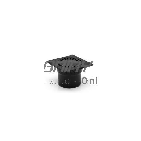 Podlahová vpusť spodná s plastovou mriežkou 150x150 / DN110