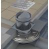 Podlahová vpusť bočná s nerezovou mriežkou 105x105 / DN50 (RAVAK)