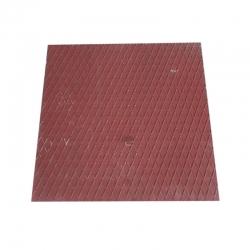 Kanalizačný poklop 605x605 štvorcový plechový farb. bez rámu
