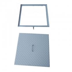 Kanalizačný poklop 500x500 štvorcový plechový farb. s rámom