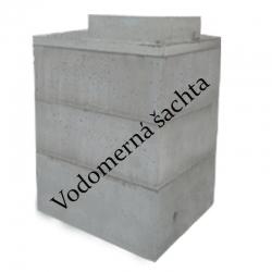 Vodomerná betónová šachta - set Š3/188 cm, s vložením do výkopu