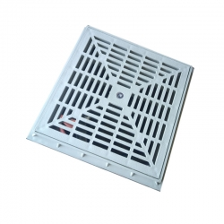 Kanalizačný rám s roštom 300x300x40 mm plastová - set