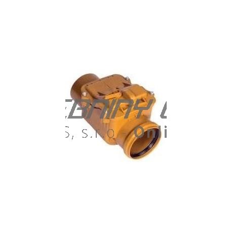 Kanalizačná spätná klapka PVC priebežná DN 110