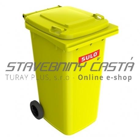 Smetná nádoba - popolnica SULO 240 l - žltá