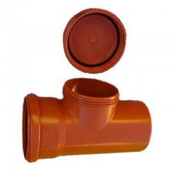 Kanalizačná čistiaca tvarovka 110 PVC s viečkom